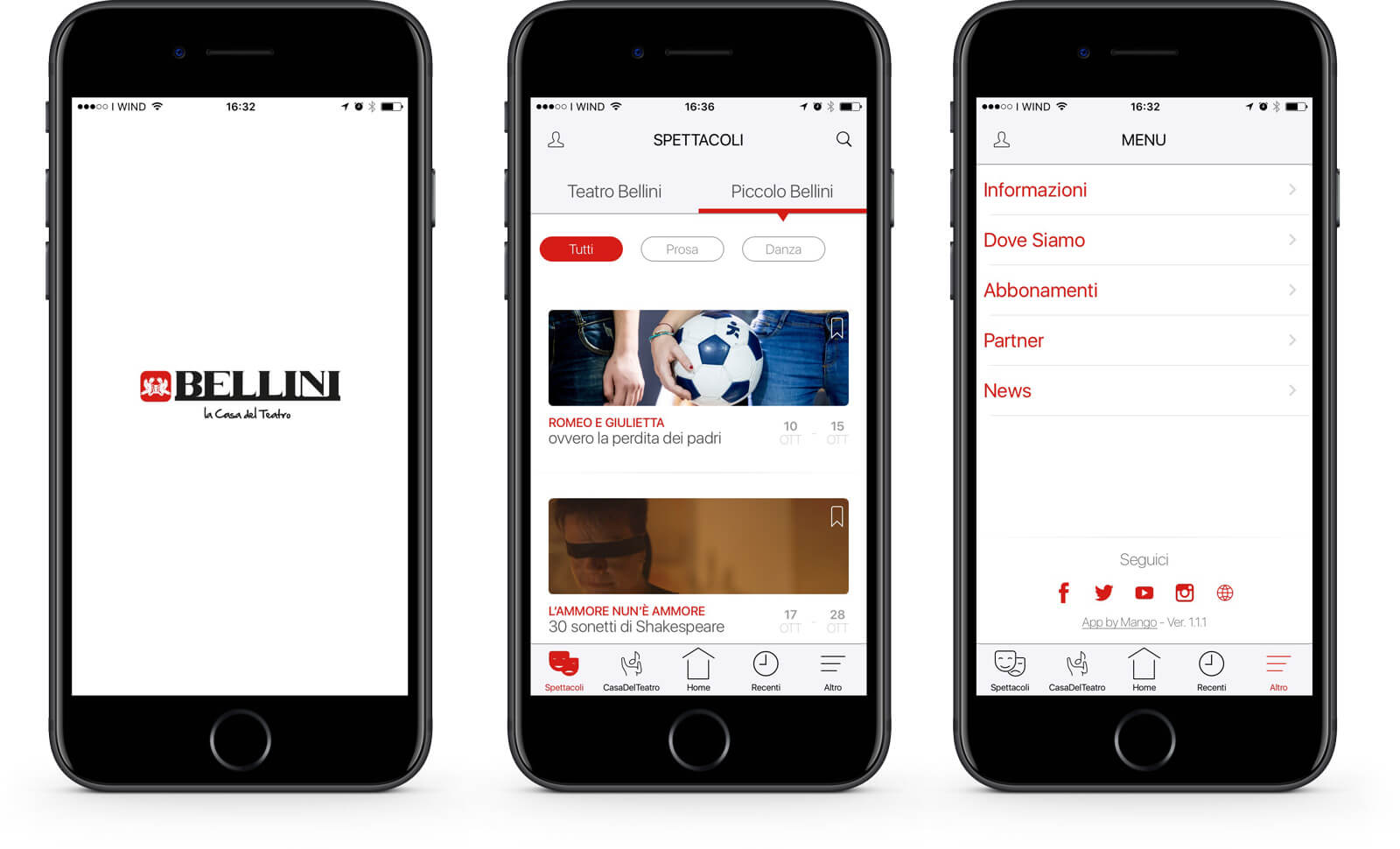 App Teatro Bellini di Napoli / La casa del Teatro – Mango Mobile Solutions