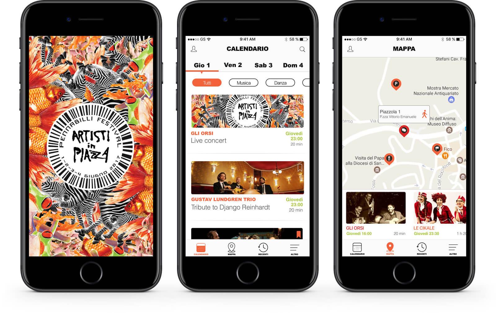 App Artisti in Piazza – Mango Mobile Solutions