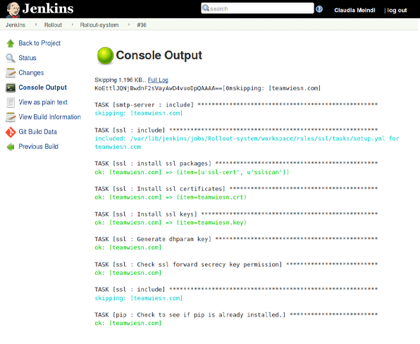 Jenkins screenshot