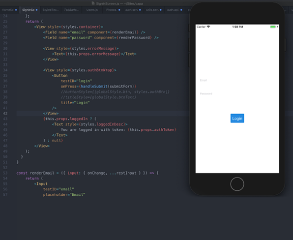 Reactnative screenshot